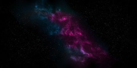 Colorful Nebula in Space Background. Using for Space star background or space concept