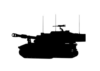 silhouette of the tank vector.