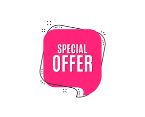 Special offer symbol. Sale sign. Advertising Discounts symbol. Speech bubble tag. Trendy graphic design element. Vector