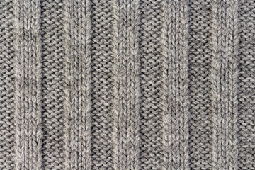 363d3508d62 Knitting. Vertical striped gray knit fabric texture, knitted pattern  background