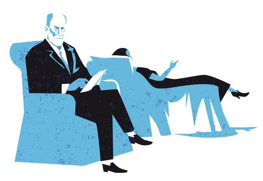 sigmund freud vector illustration