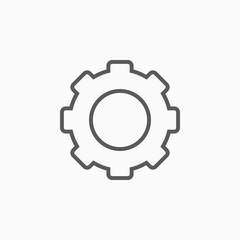 gear icon, tool vector