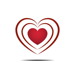 Heart love flat design icon vector illustration.