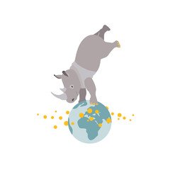 Nashorn Weltkugel