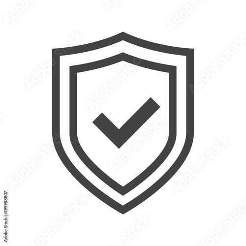u0026quot vector shield icon  logotype with tick  security emblem collection  protection logo