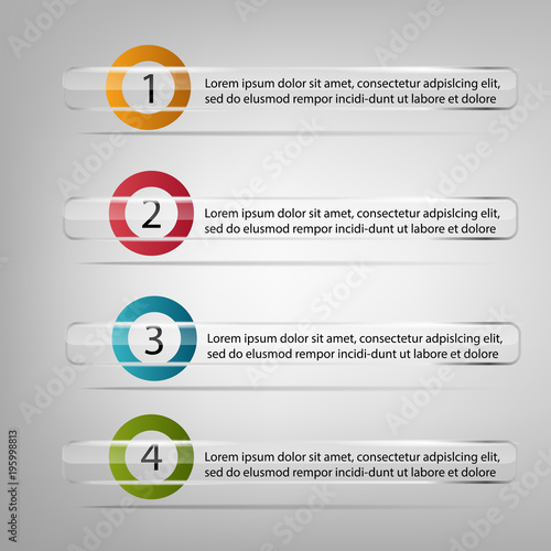 Template to your business presentation. Transparent stickers with ...