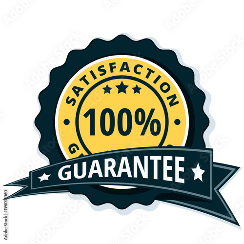 100 satisfaction guaranteed illustration stock image and royalty rh fotolia com satisfaction guaranteed logo vector 100 satisfaction guaranteed logo vector