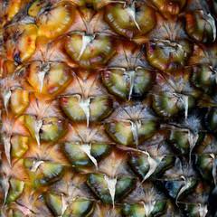 Pineapple texture closeup