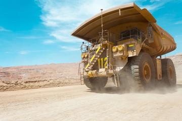 Dump truck at a copper mine in Latin America