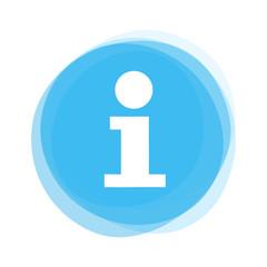 Weißes Info I auf hellblauem Button