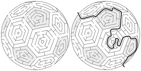 Easy ball maze