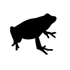 black frog silhouette images on white background