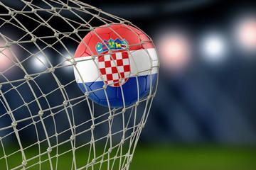 Croatian soccerball in net
