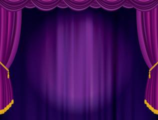violet blurry spot