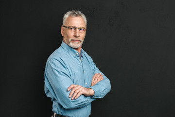 Portrait of a handsome mature man dressed in shirt