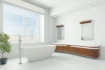 Luxuriöses Badezimmer mit Badewanne