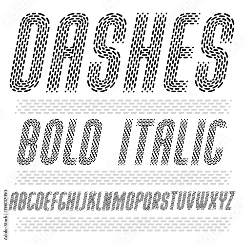 Vector Funky Condensed Capital English Alphabet Letters Collection Rounded Bold Italic Retro Type Font