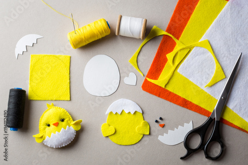 Cut Out Details Chicken Toy Fabric Crafts For Kids Step By Step