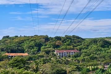 Cable car on Boracay island, Philippines