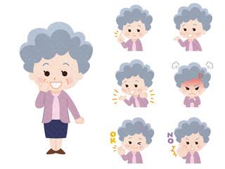 おばあさん_バリエーション