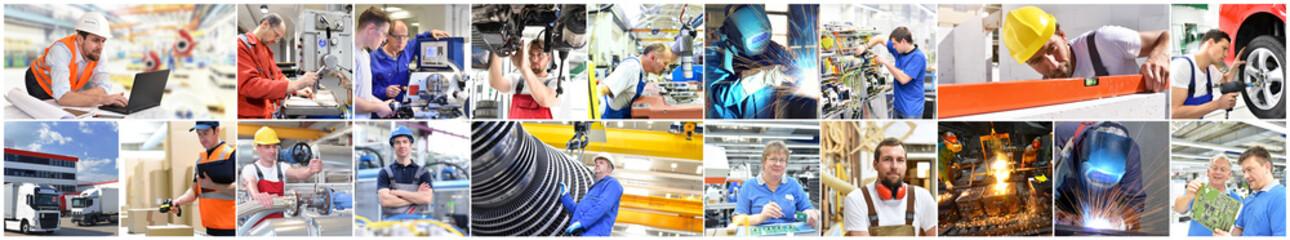 Berufe im Handwerk und Industrie - Menschen bei der Arbeit // Professions in trade and industry - People at work
