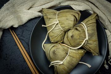 Zongzi or Traditional Chinese Sticky Rice Dumplings