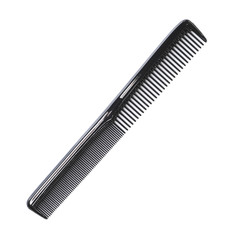 Black salon comb isolated