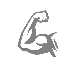 Biceps muscle arm logo