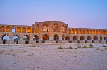 Decorations of Khaju bridge, Isfahan, Iran