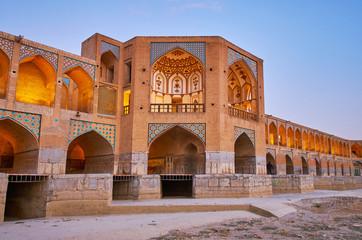 Safavid era bridge in Isfahan, Iran