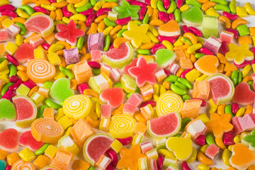 Colorful sugary candy