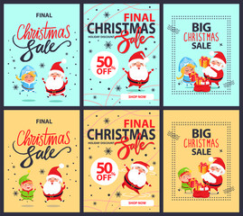 Set of Posters Final Christmas Sale Discounts 50