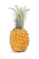 Whole tasty pineapple fruit isolated on white background