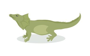 Lizard Cartoon Icon in Flat Design