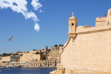 Fort St. Angelo, Blick auf Valletta