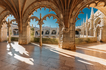 Jeronimos monastery in Lisbon, Portugal. Wall mural