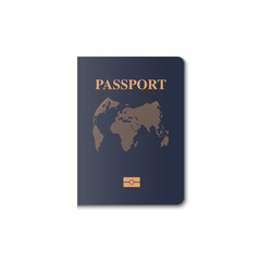 Passport cover vector design, Identification citizen, Vector, Illustration