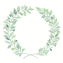 Hand-drawn Laurel Wreath