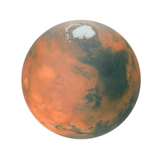 Mars Planet on white. 3D illustration