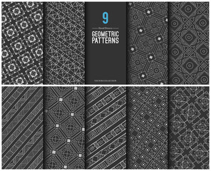 Collection of Hand Drawn Geometric Patterns