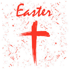 Happe Easter background with cross
