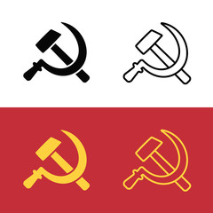 Communist hammer and sickle symbol