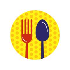 Food restaurant logo template vector illustration