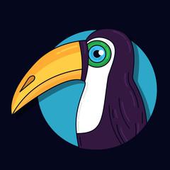 Toucan bird colorful vector illustration