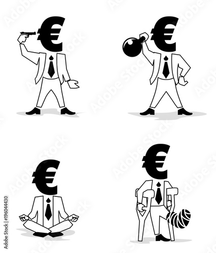 Euro Sign Money Symbol Such As Passion Businessman Euro Coin Man