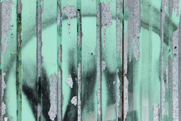 Grange Background. Metal Texture Background. Paint Spots On A Gray Metal Wall. Texture Background. Old Metal Fence.