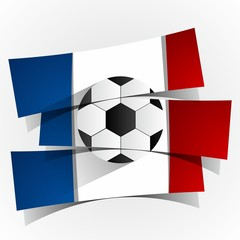 France Football Team Banners vector illustration