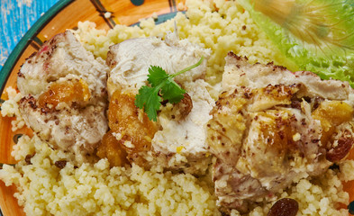 Moroccan Couscous-Stuffed Chicken