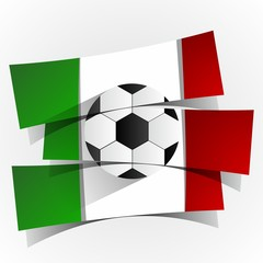 Italia Football Team Banners vector illustration