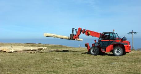 Forklift transport logs